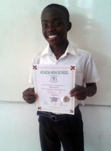 Dinno Mwiya, Grade 10. PAY learner