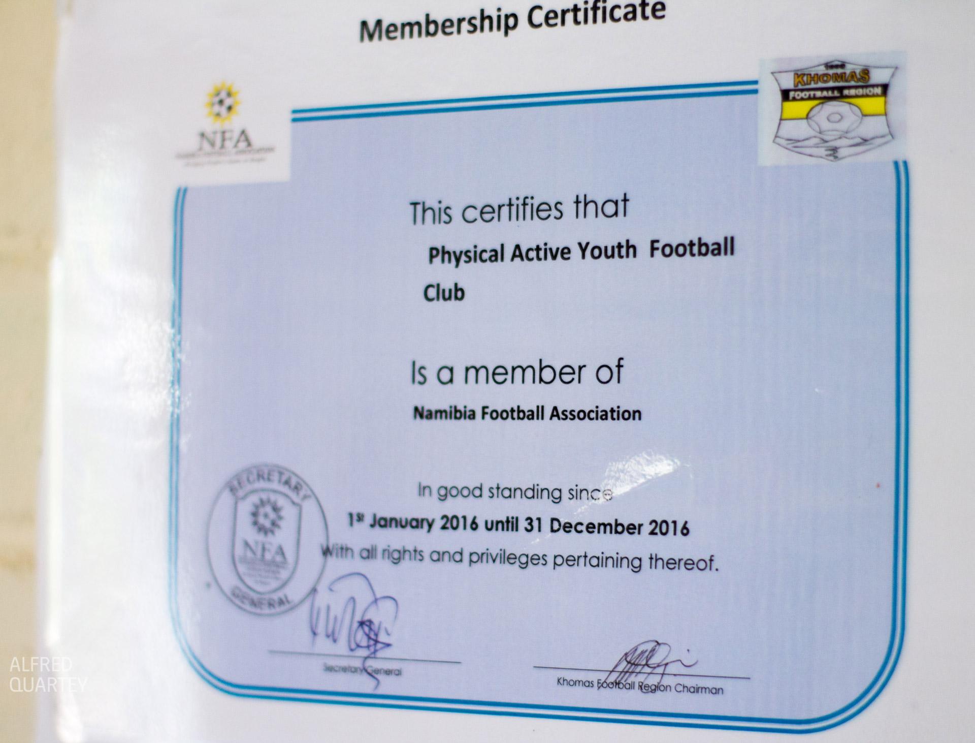 NFA-certificate