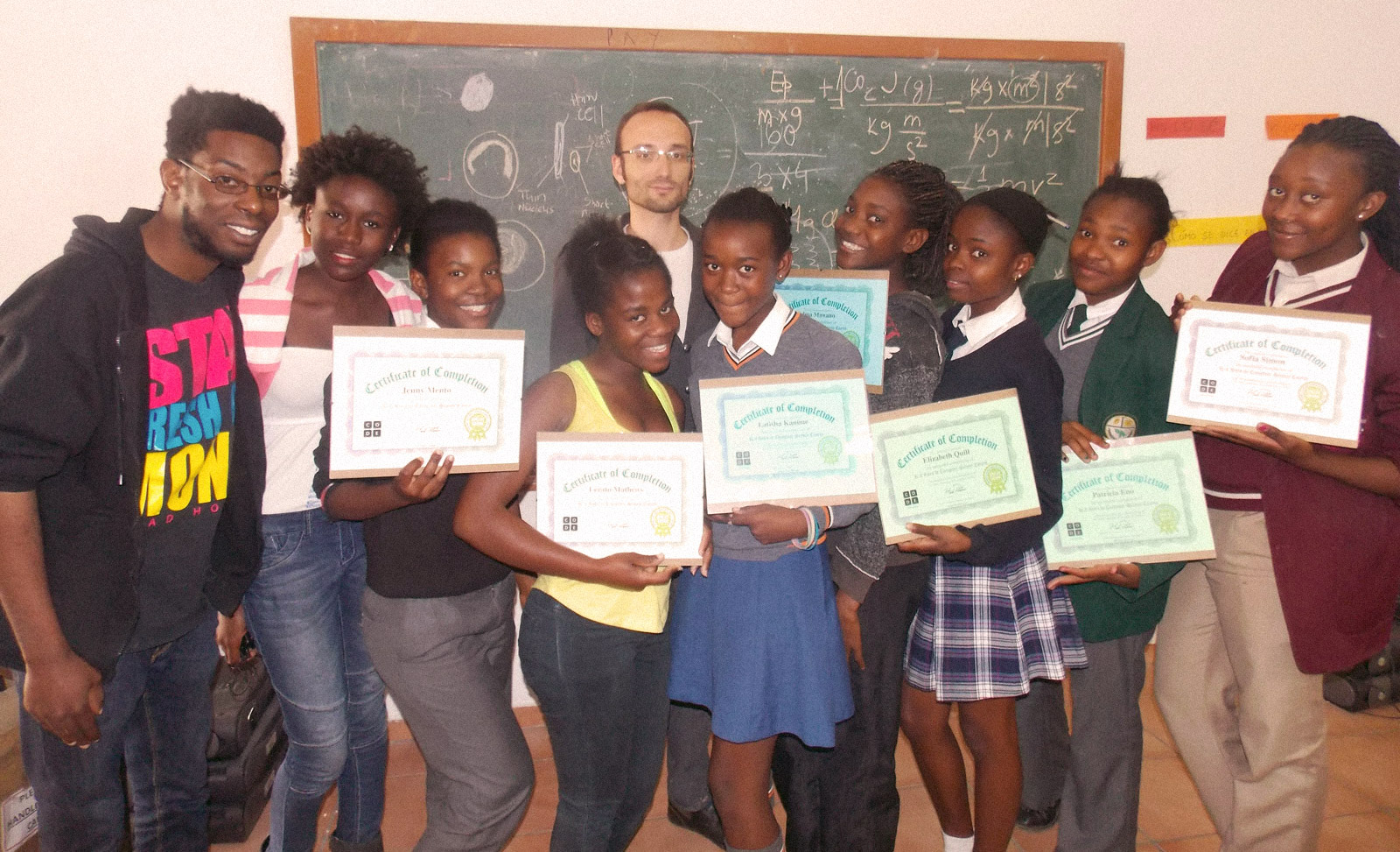 ICT - girls who code got certificates