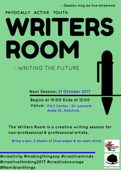 Writers Room at P.A.Y. - next session on 21.10.2017